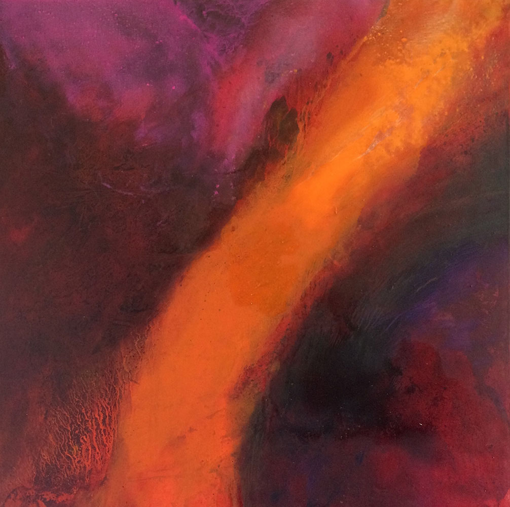 June Frickleton, Coire Gabhail II, Oil on canvas 100x100cm